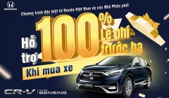 Honda CRV Khuyến Mại 100% thuế lệ phí trước bạ khi mua trong tháng 8 năm 2021