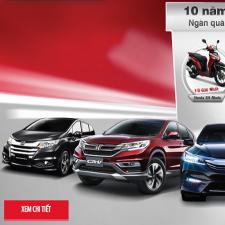 Honda Khuyến Mại Lớn Kỷ Niệm 10 Năm Honda Ô Tô Việt Nam