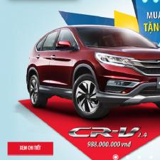 Mua Xe Honda CRV,Accord 2017 Khuyến Mại Lệ Phí Trước Bạ Đăng Ký