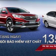 Honda Việt Nam tặng Bảo Hiểm Thân Vỏ Cho Khách Hàng Mua Honda CRV và Honda City 2016