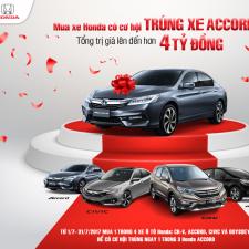 Mua Xe Honda Trúng Ngay Honda Accord Giải Thưởng Hơn 4 Tỷ Đồng