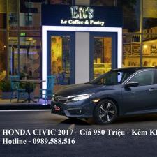 Honda Civic 2017 Giá Bán Chính Thức 950 Triệu Kèm Khuyến Mại Lớn Đủ Màu Giao Xe Ngay