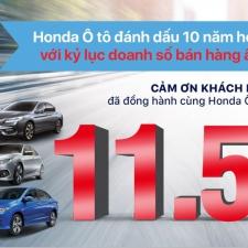 Honda Việt Nam Đạt Kỷ Lục Bán Xe Số 1 Tại Thị Trường Ô Tô 2016