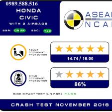 Honda Civic 2017 Nhập Khẩu Thái Lan Đạt Tiêu Chuẩn An Toàn 5 Sao