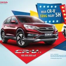 Mua Honda CRV Tặng Ngay Xe Honda SH Chương Trình Đến 30/9/2017