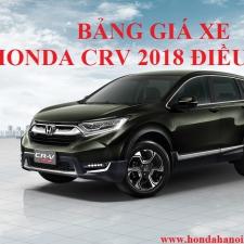 Honda CRV 2018 Thay Đổi Giá Bán Lẻ Chính Thức Từ Ngày 1/7/2018 Xe Nhập Khẩu Thái Lan