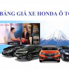 Bảng Giá Xe Honda Ô Tô Tháng 6 Năm 2018 Khuyến Mại Lớn