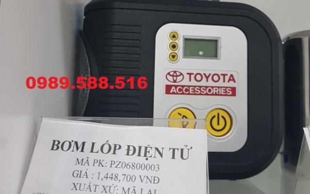 Bơm Lốp Mini Xe Ô Tô Hàng Chính Hãng Toyota Honda Theo Xe