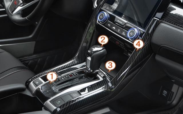 Trang trí Carbon toàn bộ nội thất Honda Civic 2018