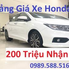 Bảng Giá Xe Honda City 2019 Rẻ Nhất Với 200 Triệu Nhận Xe Ngay Tại Hà Nội Việt Nam