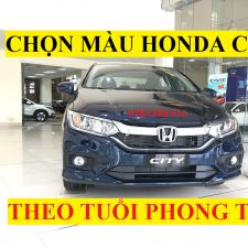 Chọn Màu Honda CITY 2018 Theo Tuổi Phong Thủy Màu Trắng Đỏ Đen Xanh Bạc Titan