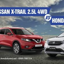 Chọn Mua Honda CRV 2.4TG Hay Nisan X-Trail 2017 ? Đánh Giá Xe